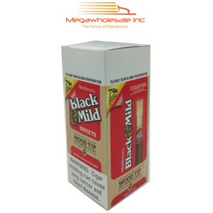 Black & Mild Wood Tip 0.79 Upright Sweet(25)