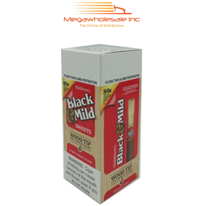 Black & Mild Wood Tip 0.89 Upright Sweet(25)