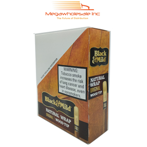 Black & Mild Wraps Wood Tip Natural (15)