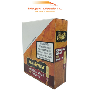 Black & Mild Wraps Wood Tip Wine (15)