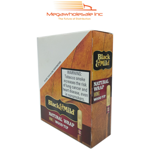 Black & Mild Wood Tip Upright Regular (25)
