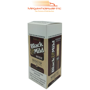 Black & Mild Wood Tip Upright Wine (25)