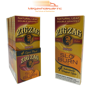 Zig Zag Slo Burn 4 Pack Gold